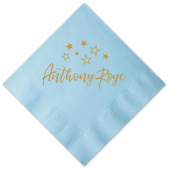 Twinkle Twinkle Little Star Birthday Napkins or Baby Shower Personalized Napkins Birthday (2235) 05a4bf