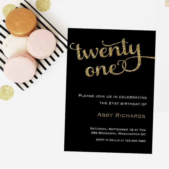 Twenty One Birthday Invitation