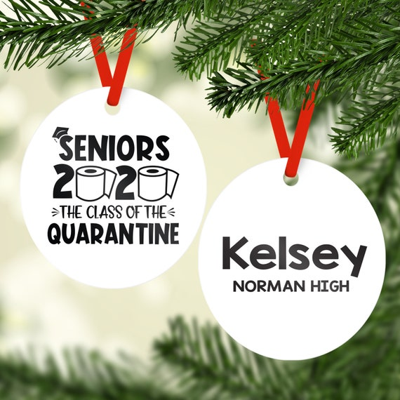 Graduation Christmas Ornaments 2020 2020 Graduate The One Where We Were Quarantined Personalized