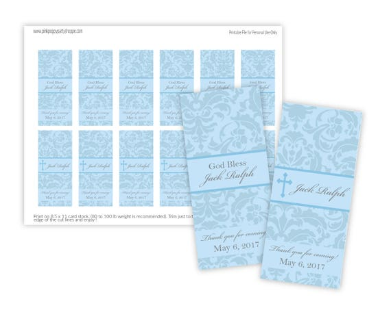 photo about Printable Candy Wrappers known as Printable Cross Custom-made Mini Sweet Wrappers (Baptism