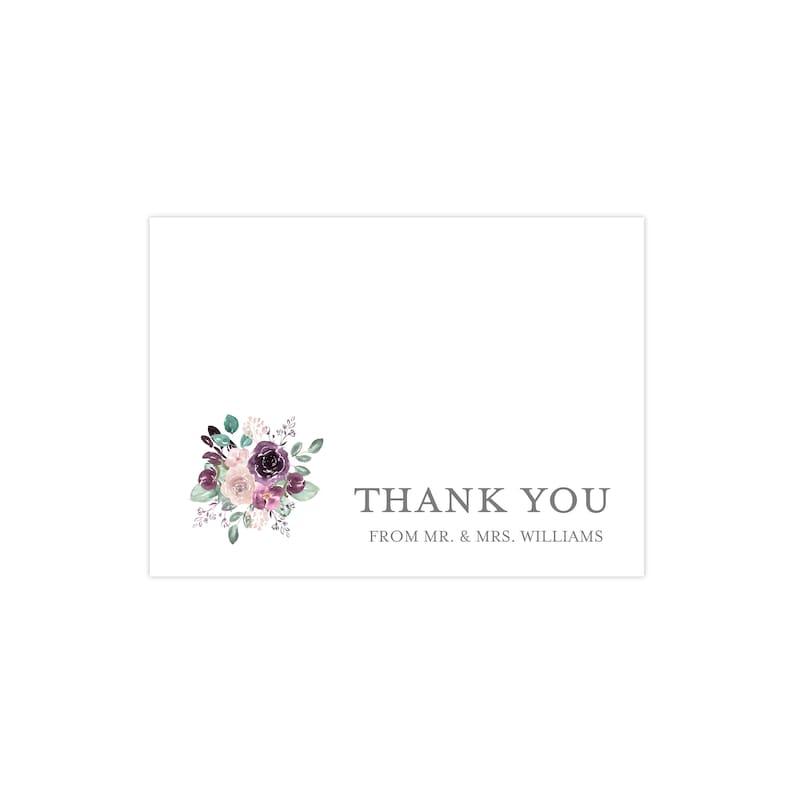 Newlywed Thank You Card Emily Wedding Collection Thank You From the Newlyweds Wedding Thank You Cards