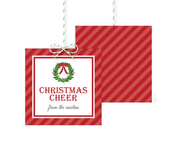1669a5c6e2dd2 Personalized Christmas Gift Tags - Holiday Gift Tag - Holiday Party ...