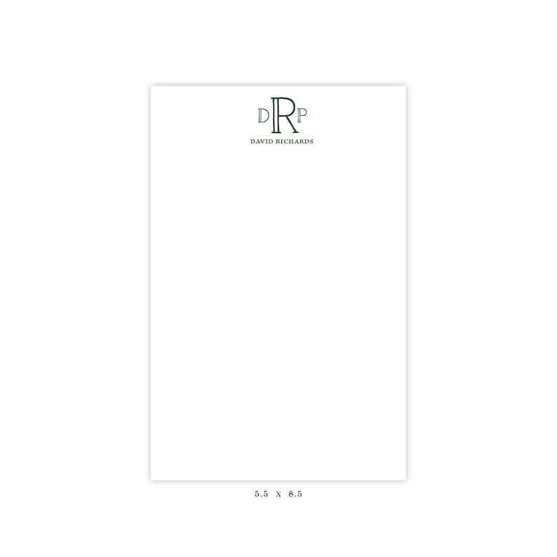 Hostess Gift Personalized Note Pad Note Pad Christmas Gift Teacher Gift Personalized Stationery Formal Monogram Note Pad