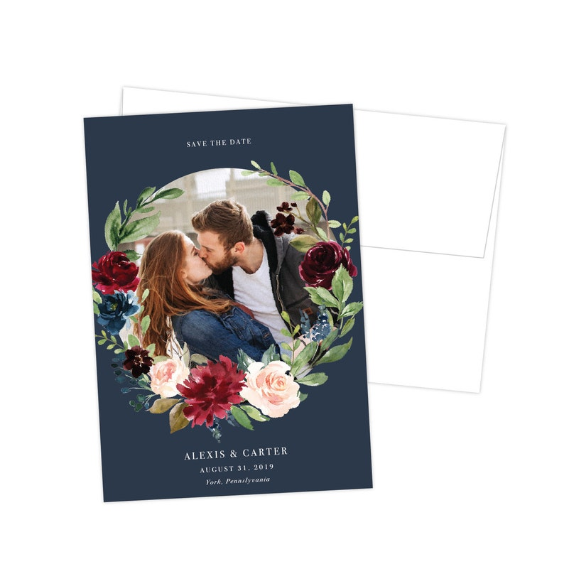 Modern Wedding Photo Save the Date Magnet Save the Date Cards Printed Magnet Save the Date The Alexis Collection Stylish