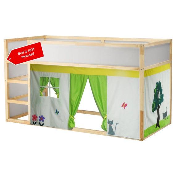 Das Kleine Haus Bett Zelt Loft Bett Vorhang Freie Etsy