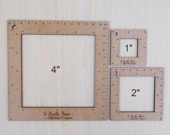 "Knitting Gauge Swatch ruler, 4"" ruler, 2""ruler or 1"" ruler. Gauge Swatch crochet gauge ruler. Knitting tools"
