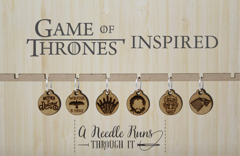 Game of Thrones inspired Knitting or crochet Stitch markers image 0