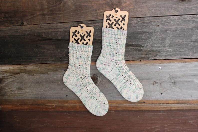 S M Succulents Sock Blockers L sizes.Wood sock form Baltic Birch Succulent Design Wood Sock blockers,pair of blockers for knitting socks