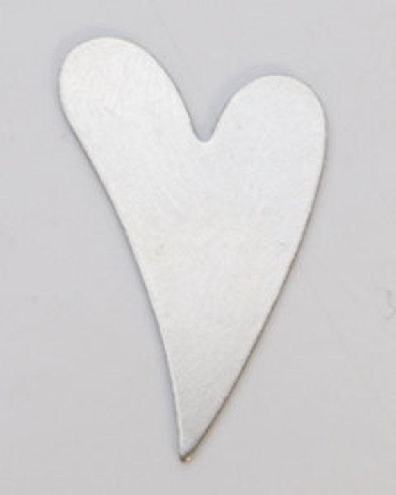 """Copper Blanks Heart 13//16 x 7//8/""""  24ga Pkg Of 6"""