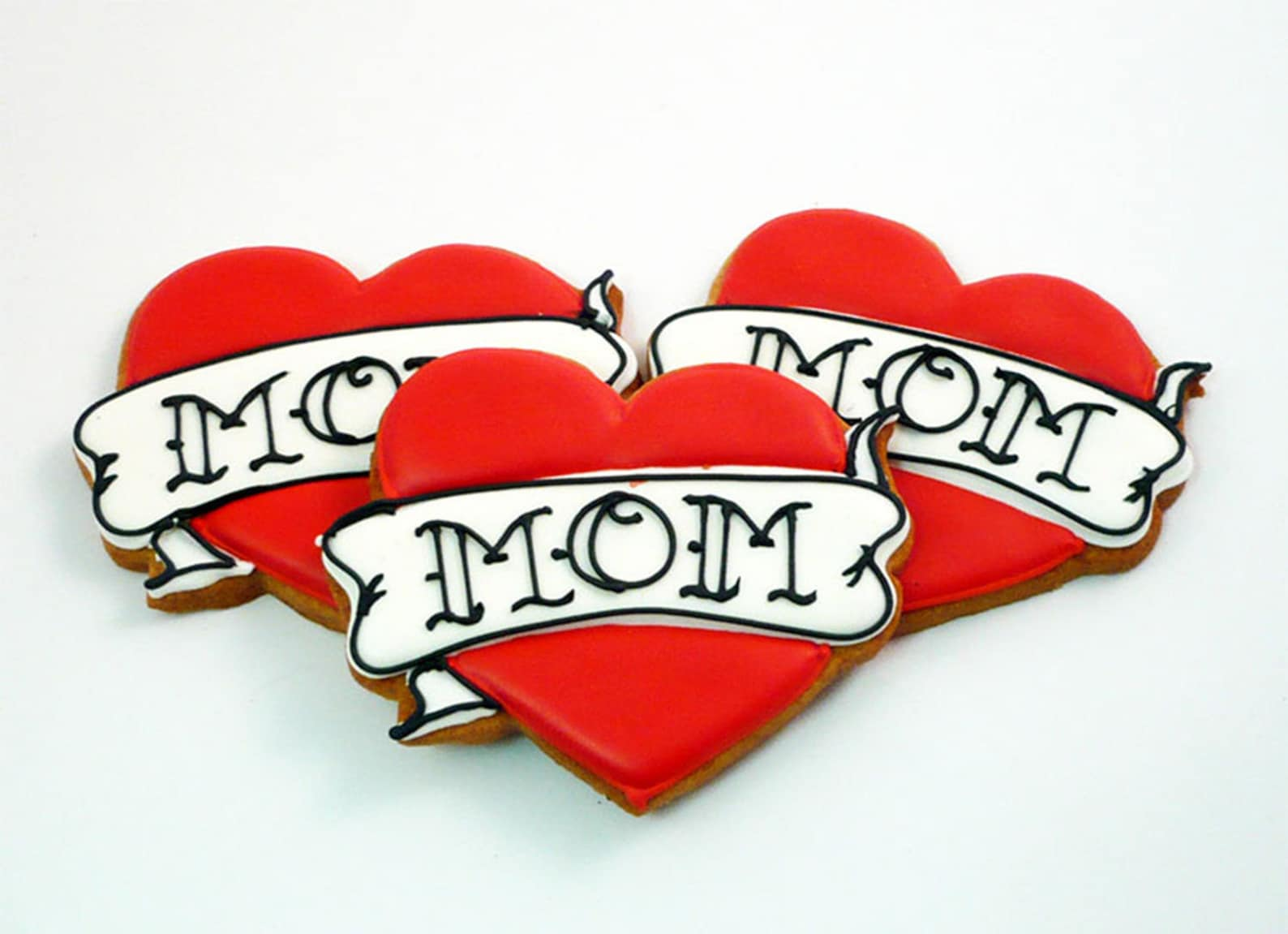 Mothers Day Heart Tattoo Cookies