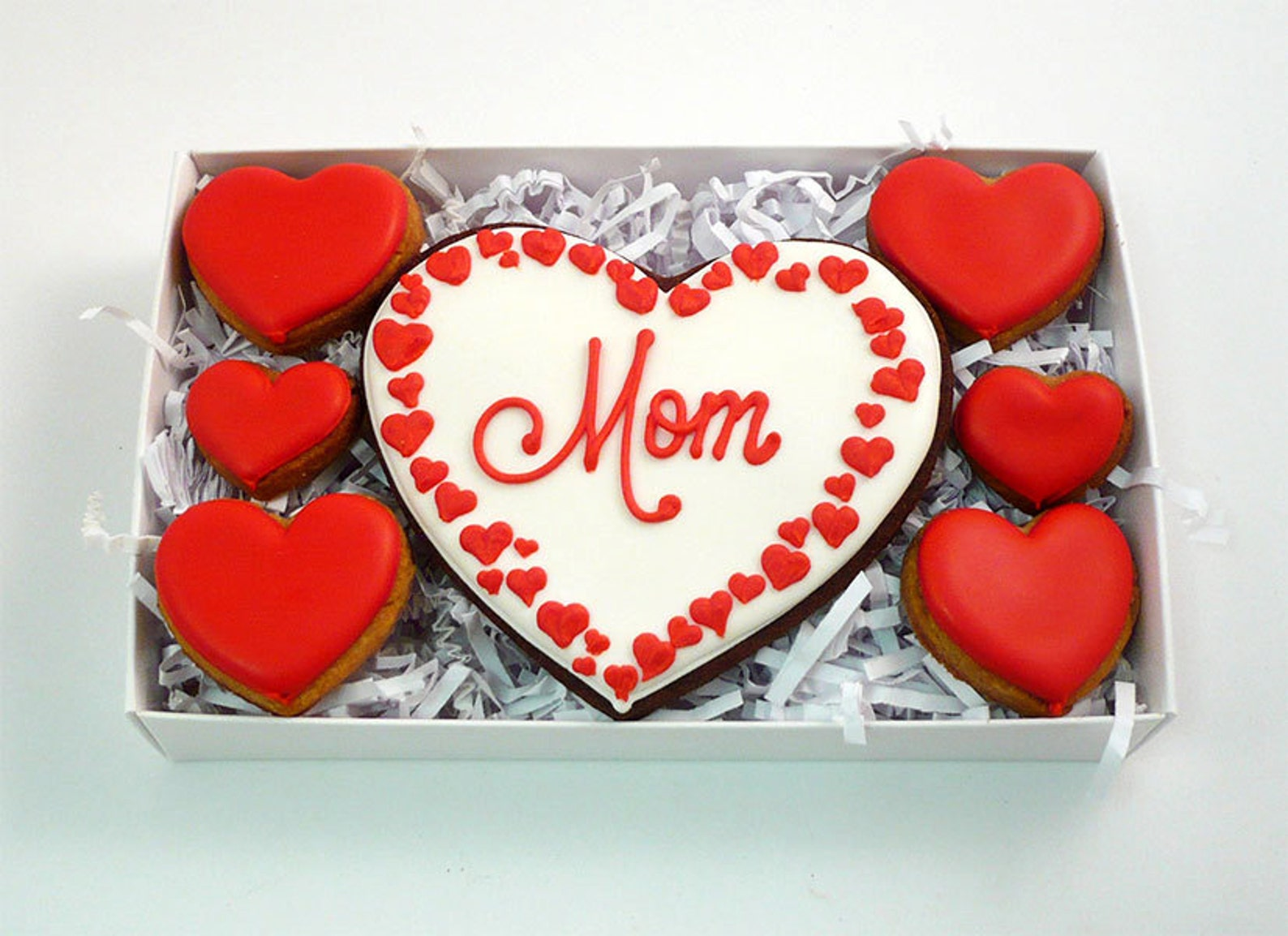 Mothers Day Heart Cookies