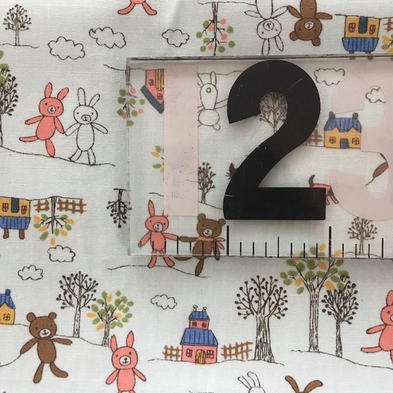 Sevenberry Quilting Fabric Bear Bunny Japan Light Blue Children Robert Kaufman