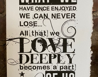loss, helen keller quote, kind words cards [ sympathy cards ]