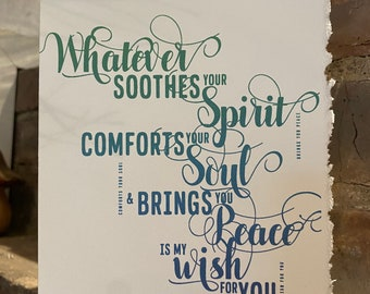 my wish for you, brings you peace, kind words cards [ sympathy cards ]