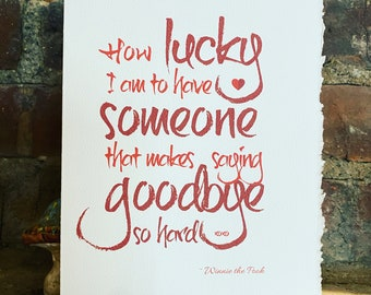 how lucky, winnie the pooh, love, loss [ good thoughts ]