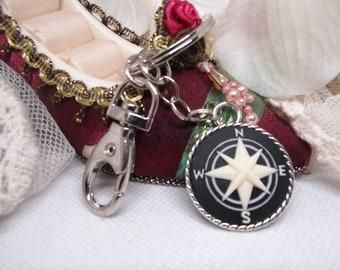PURPLE  Family Mom Child Mother Cameo Badge Holder Keyring Key Chain  Key Finder Charm