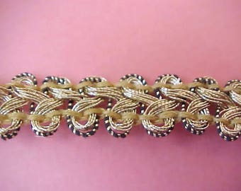 Lovely Vintage Art Deco era Metallic Gold Trim