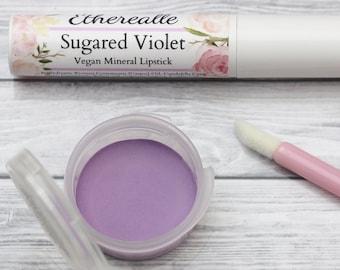 """Purple Lipstick - """"Sugared Violet"""" pastel lavender natural mineral lipstick"""