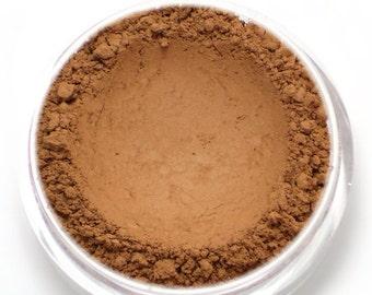 "Warm Matte Brown Eyeshadow - ""Rosewood"" - Vegan Mineral Makeup"