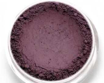 """Matte Dark Purple Eyeshadow - """"Belladonna"""" - eggplant/aubergine Vegan Mineral Eye shadow"""