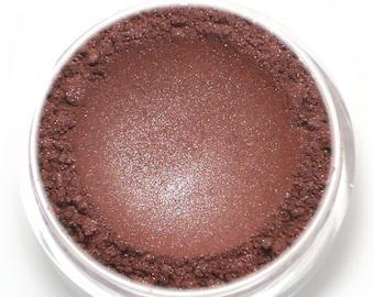 "Frosty Burgundy Red Eyeshadow - ""Roseberry"" - Vegan Mineral Makeup"