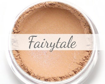 "Eyeshadow Sample - ""Fairytale"" - light peach brown blue duochrome shimmer Vegan Mineral Makeup"