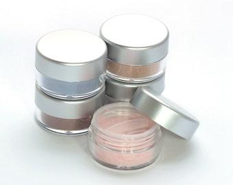 5 Piece Vegan Eyeshadow Set - choose 5 Net wt 2g jars Mineral Makeup Gift Set