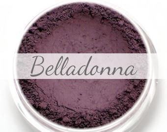 """Eyeshadow Sample - """"Belladonna"""" - matte dark purple mineral makeup"""