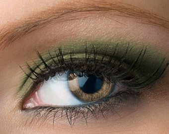 "Matte Green Eyeshadow - ""Strife"" - matte olive - all natural vegan mineral makeup"