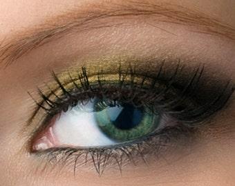 "Black with Gold Shimmer Eyeshadow - ""Goldmine"" - Vegan Mineral Eye shadow"