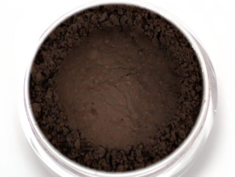Dark Brown Eyebrow Powder - Vegan Mineral Eye Brow Powder Brunette Net Wt  2g Mineral Makeup Pigment