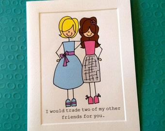 Best Friend Thank You CARD