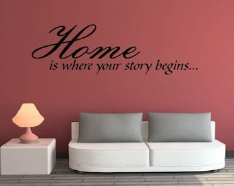 Vinyl Wall Decal- Home (Story Begins)
