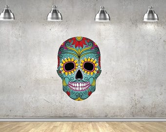 Day of the Dead (Flowery Skull) Vinyl Wall Decal