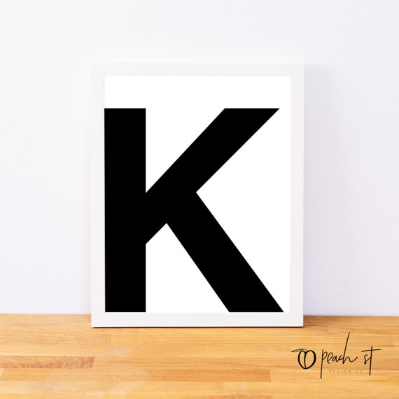 photo relating to Letter K Printable named Letter K, Typography Print, Letter Print, Printable Monogram, Printable Artwork, Least Decor, Black and White Wall Artwork, Electronic Obtain