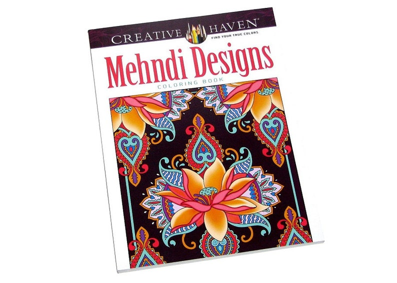 Brand New Creative Haven Mehndi Designs Coloring Book 60 Pages