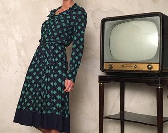 Chemisier Vintage from 70s - Vintage Midi Dress for Woman - Pois Vintage Dress