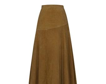 Vintage Suede Skirt - 70s Style Vintage Skirt