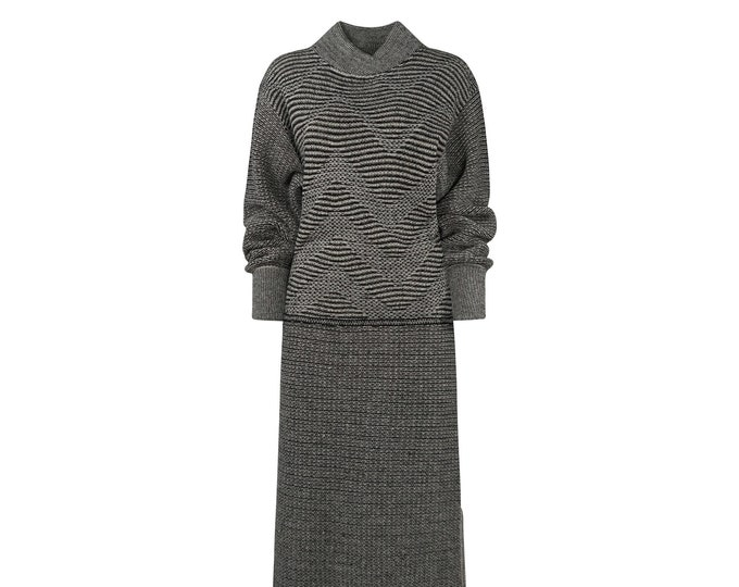 Yves Saint Laurent Vintage Tricot Dress - Vintage YSL Knit Dress for Her -80s Vintage Woman Dress
