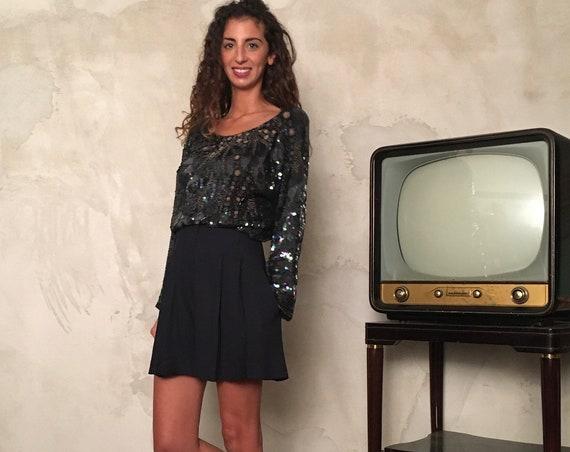Vintage Paillettes Blusa