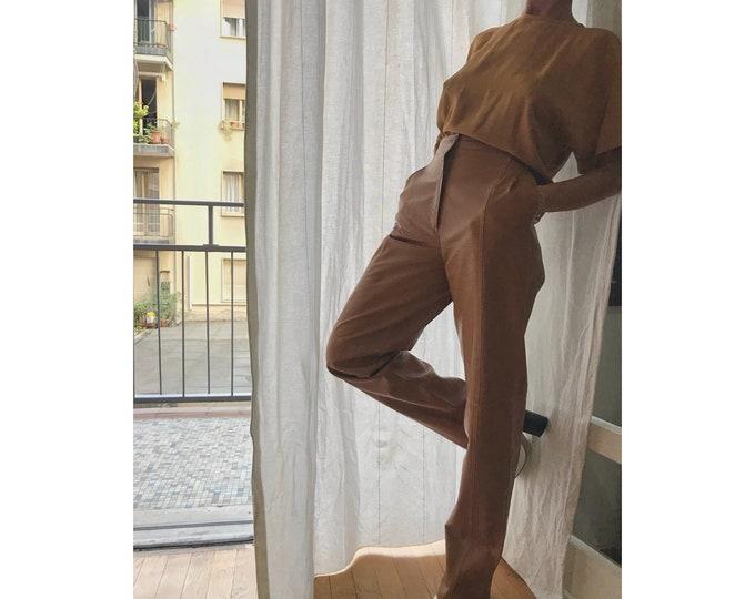 HERNO Vintage Silk Blusa - 90s Vintage Top