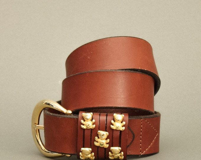 Vintage 90's Belt - Vintage Golden Teddy Bears Belt