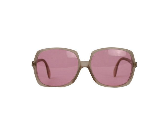 Silhouette Vintage Pink Lenses Sunglasses - 70's Vintage Sunglasses for her - 70s Vintage Sunglasses