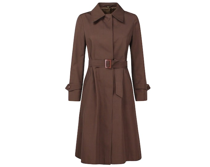Vintage Woman Trench Coat - 70s Vintage Duster  - Classic Vintage Woman Outerwear