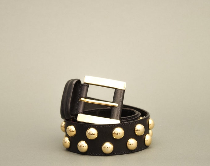90s Vintage Woman Belt - Vintage Golden Dots Belt