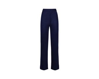 70s Vintage Flair Trousers - Woman Vintage Trousers - 70s Vintage Woman Pants
