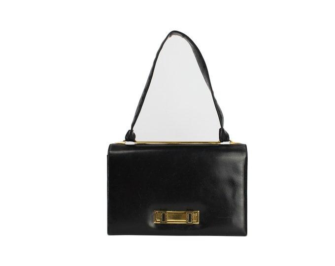 Vintage Woman's Leather Bag - Vintage Leather Shoulder Bag