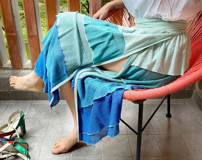 Vintage Draped Skirt - Vintage Wraparound Skirt