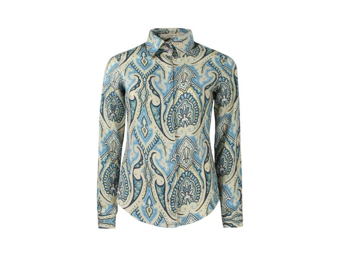 ETRO Paisley Shirt Vintage - Vintage Cotton Shirt by ETRO for Her - Woman Vintage Shirt