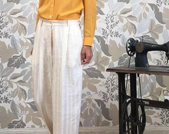 Trussardi Vintage Wide Trousers - Vintage 80s Woman Pants